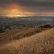 Golden Sunset Over San Francisco Bay Print by Sean Duan