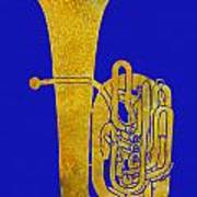 Golden Tuba Art Print