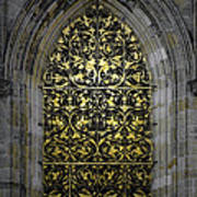 Golden Window - St Vitus Cathedral Prague Art Print