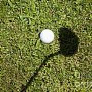 Golf Ball And Shadow Art Print