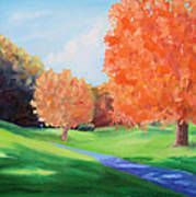 Golf Course In The Fall 1 Art Print