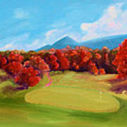 Golf Course In The Fall 2 Art Print