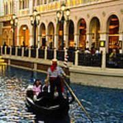 Gondola Ride Inside Venetian Hotel Art Print