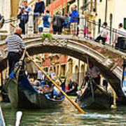 Gondolas Galore Art Print