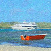 Gone Ashore Art Print