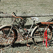 Good Ole Times Bike And Hand Pump Art Print