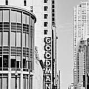 Goodman Theatre Center Chicago Art Print
