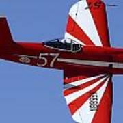 Goodyear F2g-1 Corsair Nx5588n Race 57 Cactus Fly-in March 3 2012 Art Print