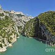 Gorges Du Verdon River From Sainte-croix Lake Art Print