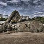 Goscar Rock Tenby 4 Art Print