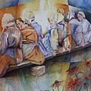 Gossip Bench Print by Patsy Sharpe