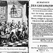 Gourmands Almanac, 1806 Art Print