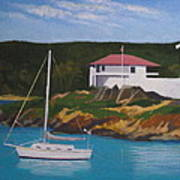 Government House At Cruz Bay Art Print