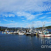 Government Wharf In Sooke Harbour Art Print
