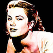Grace Kelly Print by The DigArtisT