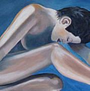 Gracefully Blue Art Print