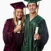 Graduation Couple Iv Art Print