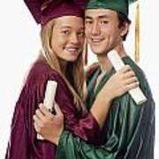 Graduation Couple Art Print