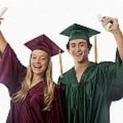 Graduation Couple V Art Print