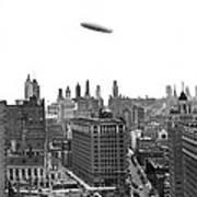 Graf Zeppelin Over Chicago Art Print