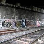 Graffiti - Under Over Railyard Art Print