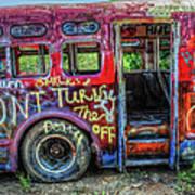 Graffiti Bus Art Print