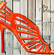 Graffiti Orange Cage Stilettos Art Print