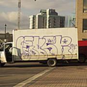 Graffiti Truck Art Print
