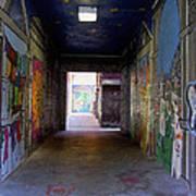 Graffiti Walkway Art Print