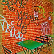 Grafitti Dining Art Print by Joan  Minchak