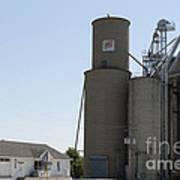 Grain Processing Facility In Shirley Illinois 3 Art Print