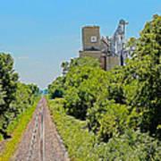 Grain Processing Facility In Shirley Illinois 4 Art Print