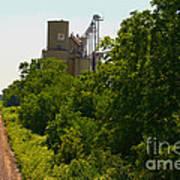 Grain Processing Facility In Shirley Illinois 5 Art Print