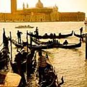 Grand Canal At Sunset - Venice Art Print