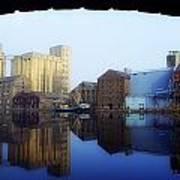 Grand Canal, Dublin, Co Dublin, Ireland Art Print