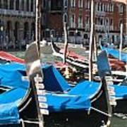 Grand Canal Gondolas Painting Art Print