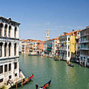 Grand Canal With Gondola  Venice Art Print