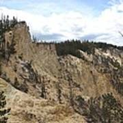 Grand Canyon Cliff In Yellowstone Art Print