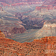 Grand Canyon Crimson Ridge Art Print by Michael Kirsh
