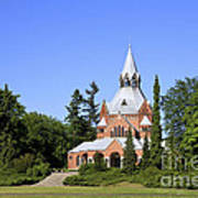 Grand Chapel In Central Cemetery Szczecin Poland Art Print