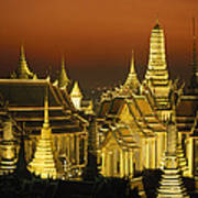 Grand Palace And Temple Of The Emerald Art Print