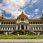 Grand Palace Chakri Mahaprasad Hall Front View Bangkok Art Print