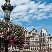 Grand Place Flowers Art Print