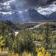 Grand Teton National Park And Snake River Art Print
