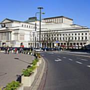 Grand Theatre In Warsaw Art Print