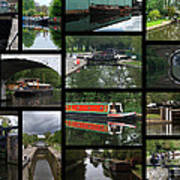 Grand Union Canal Collage Art Print