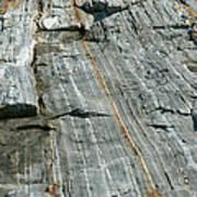 Granite With Quartz Inclusions Art Print