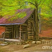 Granny's Little Cabin Art Print
