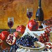 Grapes And Pomgranates Art Print