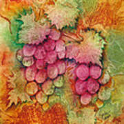 Grapes With Rust Background Art Print